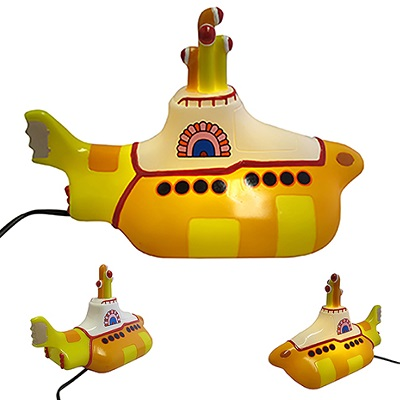 Lámpara-de-mesa-The-Beatles-Yellow-Submarine-mini-LED-pequeña