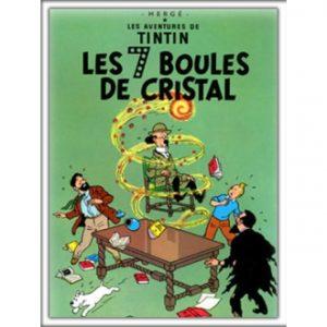Cuadro-de-Tintin-Las-siete-bolas-de-cristal